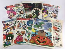 Lot of Halloween Window Clings Looney Tunes TAZ Disney Eureka