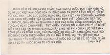 Original Vintage Usaf Vietnam-Thailand Propaganda Leaflet (1965-69)