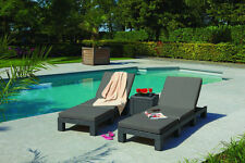 Sonnenliege Relax Gartenliege Polyrattan Liege Liegestuhl Garten Rattanliege