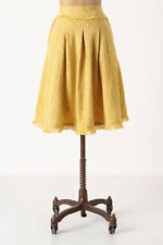 Anthropologie Buttered Tweed Skirt High Waist Pleated Full By Maeve, Size 4