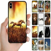 For Samsung Galaxy Series - Horse Theme Print Mobile Phone Back Case Cover #2