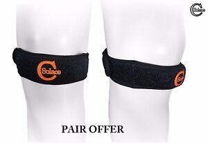 Solace Care Jumper Knee Patella Tendon Brace Tendonitis Support Sport Gym (PAIR)
