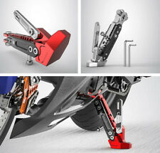 Motorcycle Adjustable Side Tripod Holder Fall Protect Cool Styling Durable Alloy