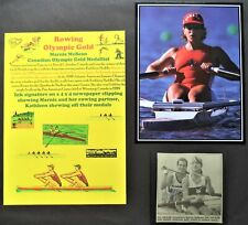 McBEAN MARNIE CANADA ROWING OLYMPIC GOLD MEDAL 1992 SIGNED PICTURE