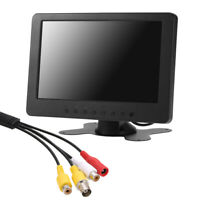 "7"" LED Mini Monitor BNC AV Color HD Video Input for PC CCTV Camera Security V0A9"