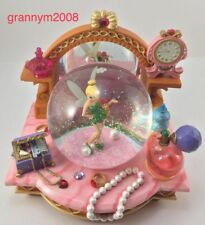 DISNEY PARKS TINKERBELL VANITY MUSICAL SNOW GLOBE RETIRED Plays You Can Fly