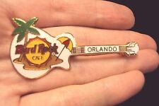 little white Hard Rock Cafe guitar Orland beach tac pin brooch love guitars