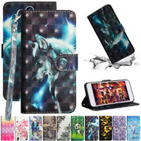For LG K40 Stylo 5 V50 ThinQ Painted Leather Flip Stand Card Wallet TPU Cover