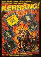 Kerrang Magazine Mark Knopfler Marillion Gary Moore Rick Springfield No63 1984