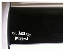 "Just Married vinyl sticker car decal 7"" *L54 Heart Love Husband Wife Wedding"