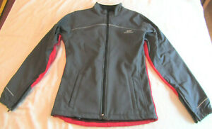 Bellwether Full Zip Soft Shell Fleece Cycling Jacket Small Red & Black, 18.5 P-P