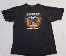 Harley-Davidson Fathead AD Farrow Co Columbus Ohio Mens T-Shirt XL Black J2