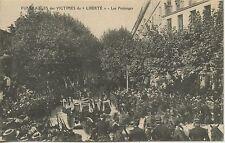 CARTE POSTALE / LE VAR TOULON FUNERAILLES DES VICTIMES DU LIBERTE LES PROLONGES
