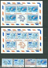 Ghana Upu Cententary Sc#512/15a & Sheets Of Five Mint Never Hinged As Shown