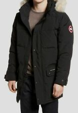 $2630 Canada Goose Men's Black Emory Down Hooded Parka Jacket Coat Size XL