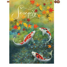 "Koi Fish Autumn Pond House Flag 40"" x 28"""
