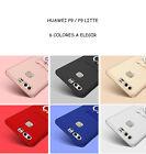 Funda protector Huawei P9 y P9 Lite Plus varios colores fina con anillo sujecion