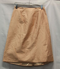 Blumarine Womens Formal Silk Skirt Size 36 Excellent Used Condition Beige 2402