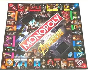 Monopoly Marvel Avengers Board Game REPLACEMENT GAME BOARD (Board Only)
