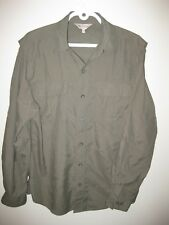 Wind River Quick Dry Men's Shirt Dark Green Vented Fishing Hiking Camping