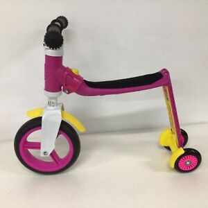 Scoot & Ride Pink White Metal Acrylic Children's Ride On #323