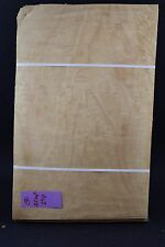 """Quilted maple molted raw wood veneer 15"""" x 10"""" x 1/42'' ONE SHEET"""