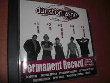 """RARE MINT 1999 CD Dunston Ashe """"Permanent Record"""" Rock Penn State University PSU"""