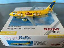 1/400 Scale Die Cast Model Western Pacific Air Boeing 737-300 The Simpsons
