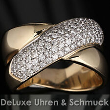 🎀*Christ Brillant Ring*79 Brillanten*1,00 ct.*14K/585er Gold*Größe 61*