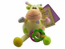 Baby-Bow  Bébé Mascotte hochets à accrocher Doudou Peluche Élan 16 cm