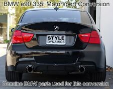 BMW e90 330D 335i dual exhaust conversion inc Genuine Motorsport conversion