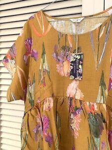 "New! Lovely GORMAN ""Iris Gold"" Bungalow Dress -  size M"