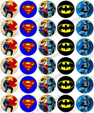 30 X Superman Vs Batman parte comestible de arroz Oblea papel Cupcake Toppers Jim Lee
