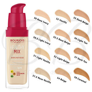 BOURJOIS Healthy Mix Anti-Fatigue Radiant Foundation with Vitamin Mix 30ml *NEW*