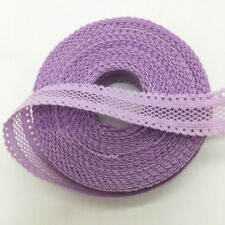 """5yds 5/8""""(16mm) Bilateral Lace Grid Fold Over Elastic Spandex Lace Band U pick"""