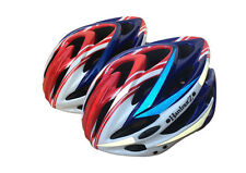 HardnutZ Bike Helmet Road Mountain Bicycle Cycling Hi Vis Red White Blue 54-61cm