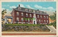 Postcard Nurses Home Westmoreland County Hospital Greensburg PA