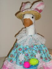 """Goose geese 17"""" Medium clothes Easter dress pastels cotton outfit #291-4"""