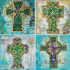 God Jesus Coaster Stone Absorbent Coasters 4-1/4-Inch Celtic Crosses Set of 4