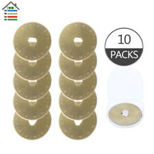 10Pack Titanium Coated 45mm Rotary Cutter Blades Paper Quilting for OLFA fiskars
