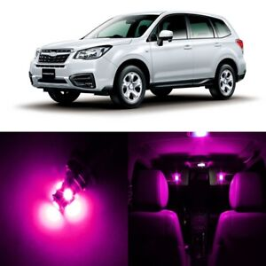 12 x Pink LED Interior Lights Package For 2014 - 2018 Subaru Forester +PRY TOOL