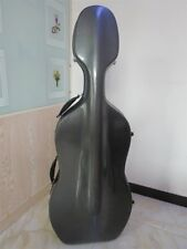 4/4 Cello Carbon Fiber Case Hard Case W/Wheels Easy Carry Free Shipping