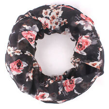 Floral Fashion Women's Infinity Scarf, USA SELLER, GREAT PRESENT