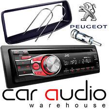 Peugeot 206 Jvc Cd Mp3 Aux En Rojo Pantalla Auto estéreo reproductor de radio y Kit de montaje