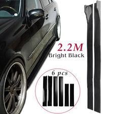 866 For Universal Car Side Skirt Extension Rocker Panel Body Kit Lip Splitters Fits Toyota Yaris