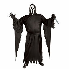 Plus Size Adults Scream Costume Licensed Mens Halloween Fancy Dress + MASK