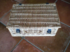 """SEWING / STORAGE BASKET WITH LID AND STRAPS 14"""" x 10"""" x 6"""""""