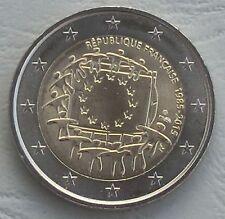2 Euro Frankreich 2015 30 Jahre Europaflagge unz.