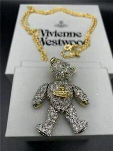 Vivienne Westwood Long Chain Panda Pendant Necklace