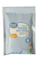 Great Value Instant Nonfat Dry Powder Milk, 3.2oz (90.7g) Drink Ships Fast!